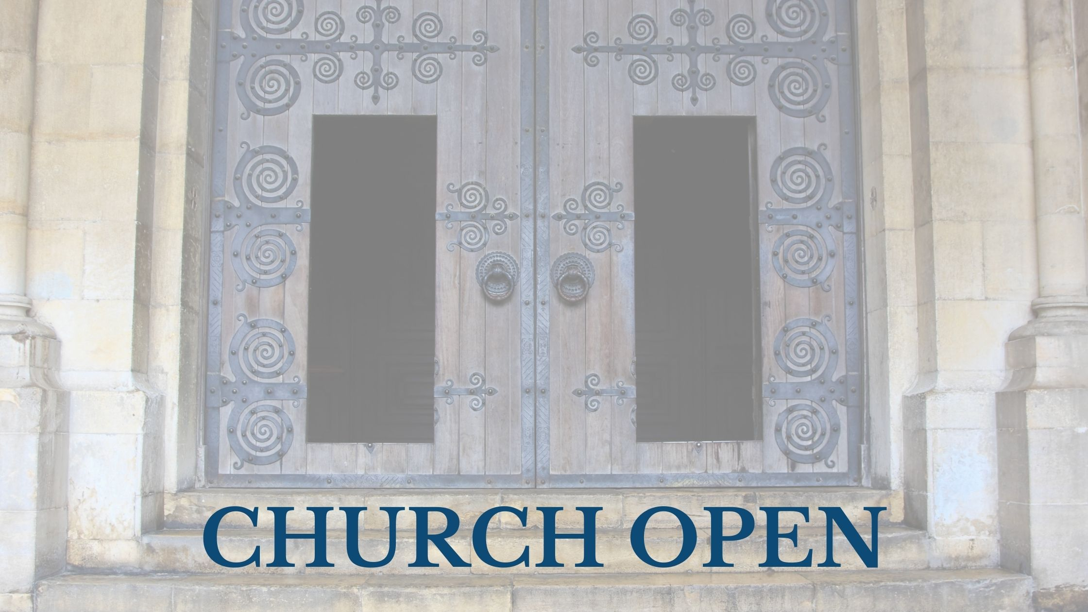 Church Open blog banner